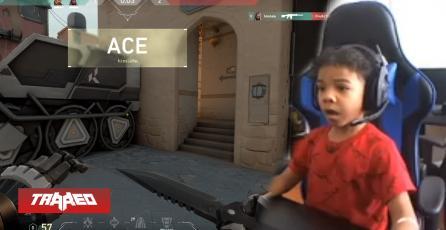 1 vs 4: Niño de 5 años logra un ACE en Valorant y se va corriendo eufórico donde su papá a contarle