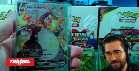 Youtuber destruye a cambio de 50 dólares fajo de cartas Pokémon que contenía entre ellas una Shiny Charizard VMAX