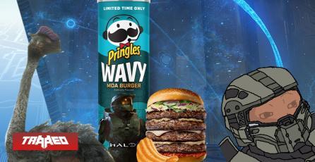 EEUU: Lanzan unas Pringles sabor hamburguesa de avestruz espacial de Halo