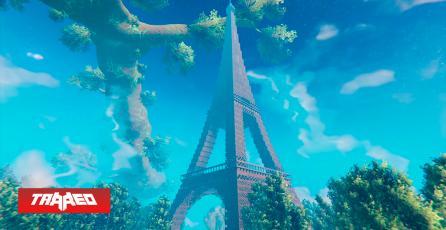 Constructores de Valheim crean un modelo a escala real de la Torre Eiffel