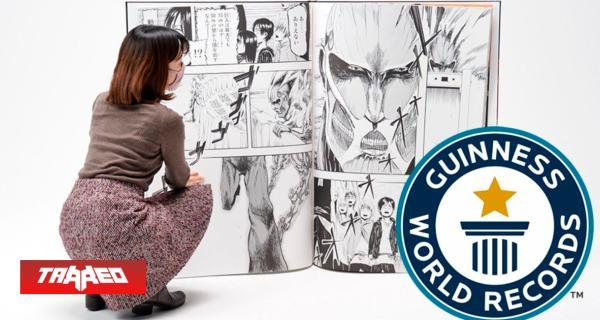 Record Guinness: Shingeki no Kyojin produce 100 copias del manga más grande del mundo, y se venden en minutos