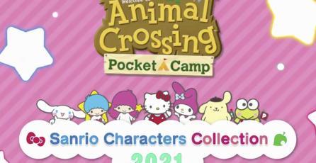 Los personajes de Sanrio visitan <em>Animal Crossing Pocket Camp</em>