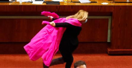 Diputada de Chile, famosa por correr como <em>Naruto</em>, aventaja en encuestas presidenciales