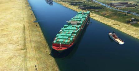 El bloqueo en el Canal de Suez llega a <em>Microsoft Flight Simulator</em> gracias a un mod