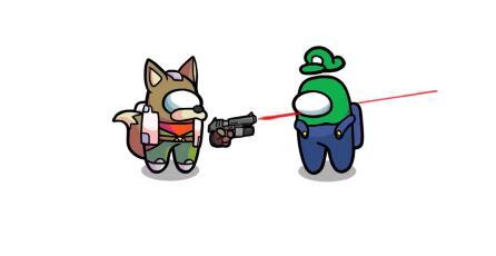 Así serían los luchadores de <em>Smash Bros.</em> como personajes de <em>Among Us</em>