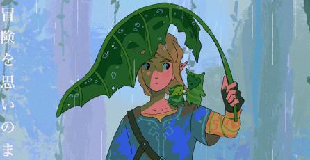 Así de espectacular luciría un film de <em>Zelda: BOTW</em> con el estilo de Studio Ghibli
