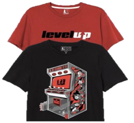Pack De 2 Playeras Arcade y LevelUp