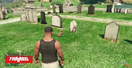 Se viraliza (nuevamente) el triste Easter Egg de GTA V del perrito que visita la tumba de su dueño