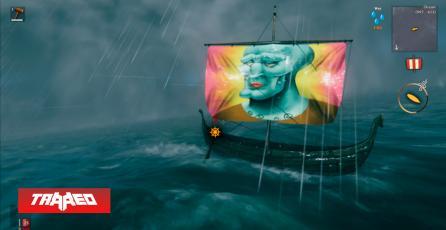 Nuevo mod de Valheim te permite personalizar y poner cualquier imagen en las velas de tus barcos
