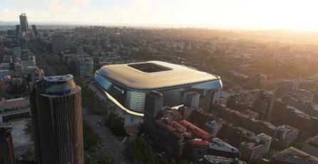 <em>Microsoft Flight Simulator</em> muestra cómo se verá el nuevo estadio del Real Madrid