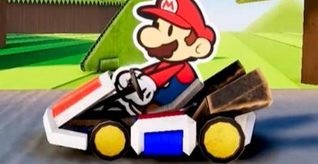 Un fan crea una parodia de <em>Mario Kart</em> al estilo de <em>Paper Mario</em>