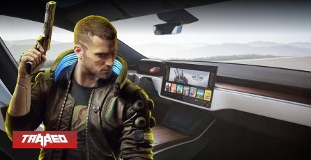 Elon Musk muestra su nuevo modelo de auto Tesla corriendo Cyberpunk 2077