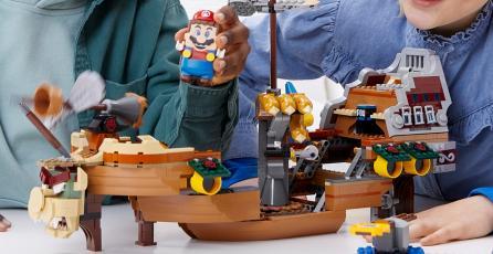 LEGO <em>Super Mario</em>: revelan un enorme set de la Fortaleza Aérea de Bowser