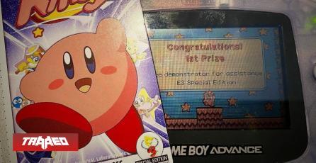 Hallan rarísima tarjeta promocional de Kirby hecha para el E3 de 2002 en perfectas condiciones