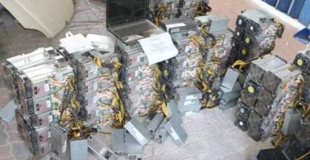 Criptomonedas: policías destruyen equipos de minería con un valor de $1.6 MDD