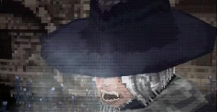 Así luce la pelea contra el Padre Gascoigne en el demake de <em>Bloodborne</em> para PS1