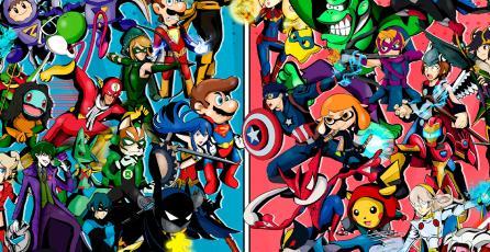 ¿Personajes de <em>Smash Ultimate</em> al estilo Marvel y DC? Fan lo hace realidad