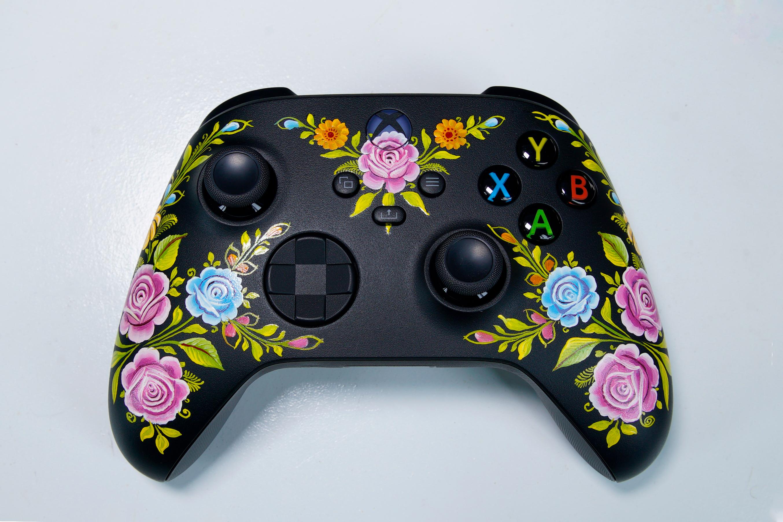 Control de Xbox con arte Olinalá