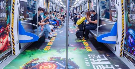 Decoran trenes de China con hermosos murales de <em>League of Legends</em>