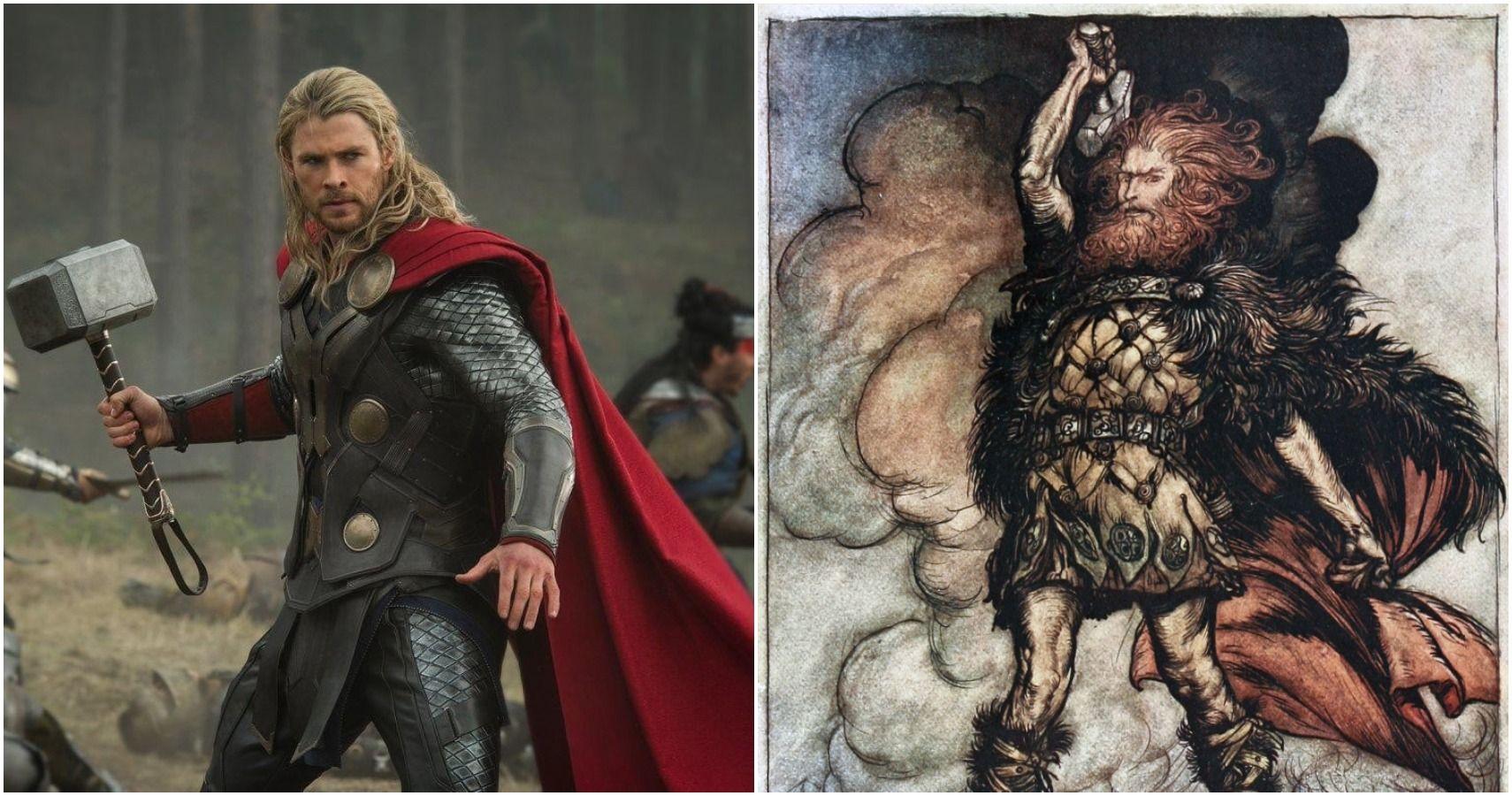 Thor from the MCU vs mythological representation