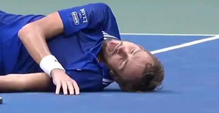 Campeón del US Open de tenis festejó con una referencia a un videojuego