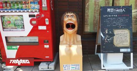 Instalan tarros de basura de Shingeki no Kyojin en Japón para promover reciclaje