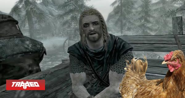 """Se burlan de usuario que no sabía que lo podían matar en Skyrim """"solo por atacar un pollo"""""""