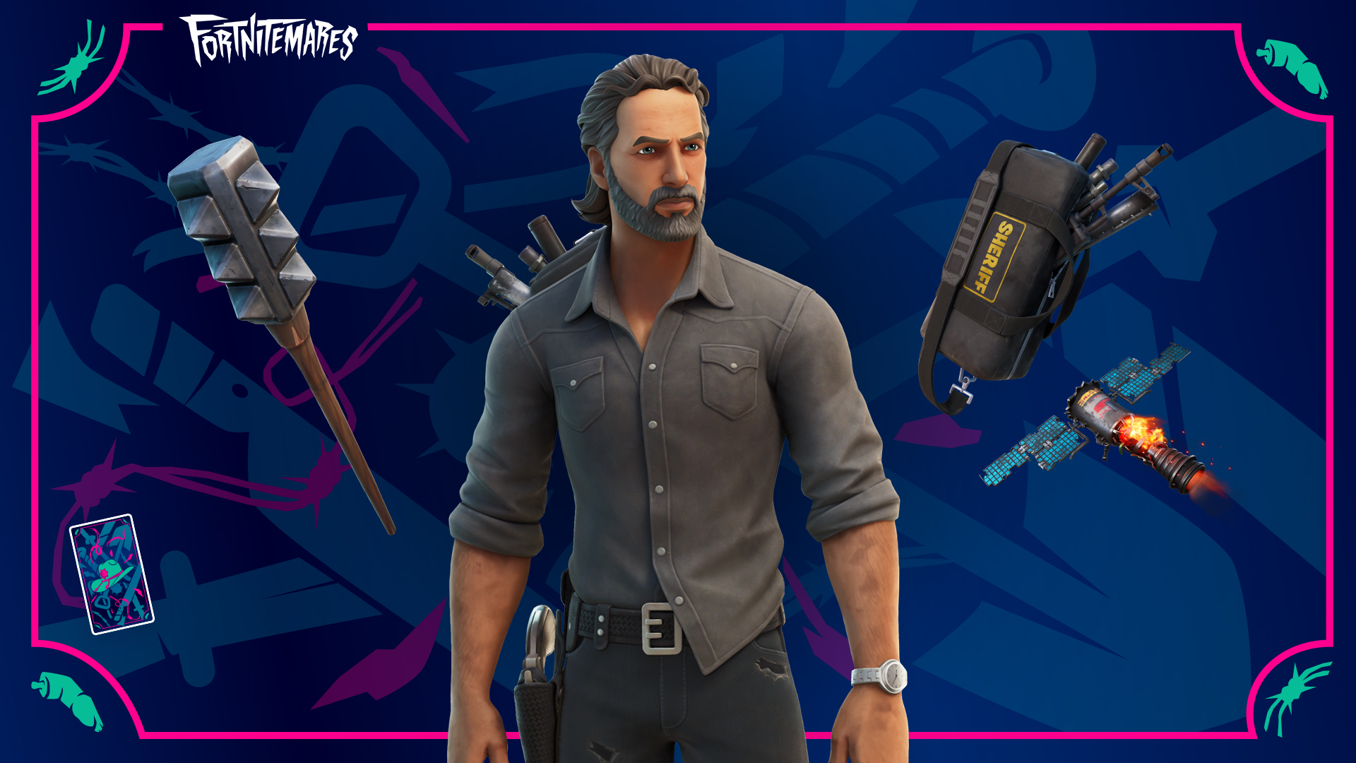 New The Walking Dead items in Fortnite (Image: Epic Games)