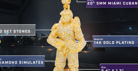 Mira estos hermosos collares de oro y diamante inspirados en <em>Halo</em>