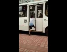 He tried prank the driver of the bus and look what happened