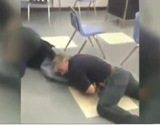 Caught on Video Teacher brawling with student in classroom