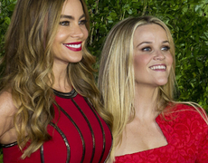 Reese & Sofia Rock Premiere in Red