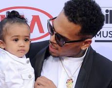 Chris Brown Makes up for Missing Royalty's First Birthday