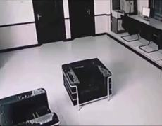 CCTV: Poltergeist attacks woman