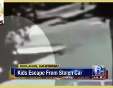 Girls jump from moving car to escape their kidnapper