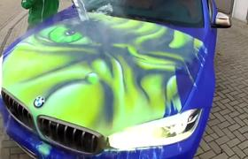 BMW changes color with hot water