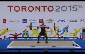 Venezuelan weightlifter faints during competition
