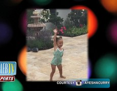 Leah Still Challenges Riley Curry to a Dance Off!