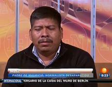 Padres de normalistas de Ayotzinapa en entrevista en Primero Noticias