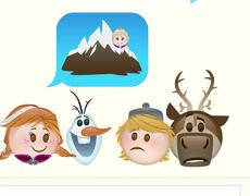 Frozen story told with emojis