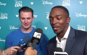 D23 Expo - Chris Evans And Anthony Mackie Talk