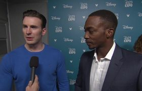 D23 Expo -- Captain America: Civil War - Chris Evans & Anthony Mackie (Interview)