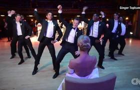 Epic wedding dance goes viral