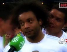 Cristiano Ronaldo photobombs Marcelo during interview