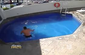 Drowning his stepdaughter of 3 years old in the pool