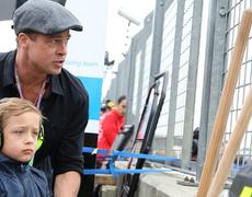 Brad Pitt Bonds with Lookalike Son