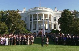 Moment of Silence Marks in White House 14th Anniversary of 9/11