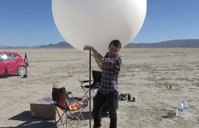 Group Makes a Solar System in the Nevada Desert (Making Of)