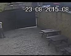 Shocking CCTV of man punching a woman in a London pub garden