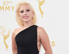 Lady Gaga Is a Vision in White at Emmys After Party!